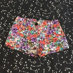 Forever 21 floral shorts xs